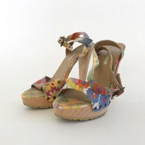 Stella McCartney FLORAL PLATFORM SANDAL / 37.5